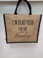 Dead Posh Large Jute Bag - Bowling